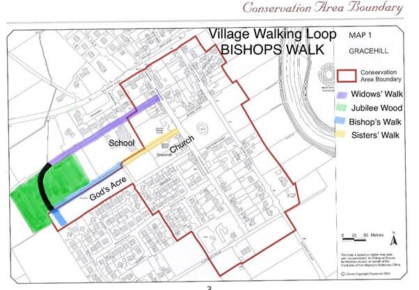 Bishops walk Map
